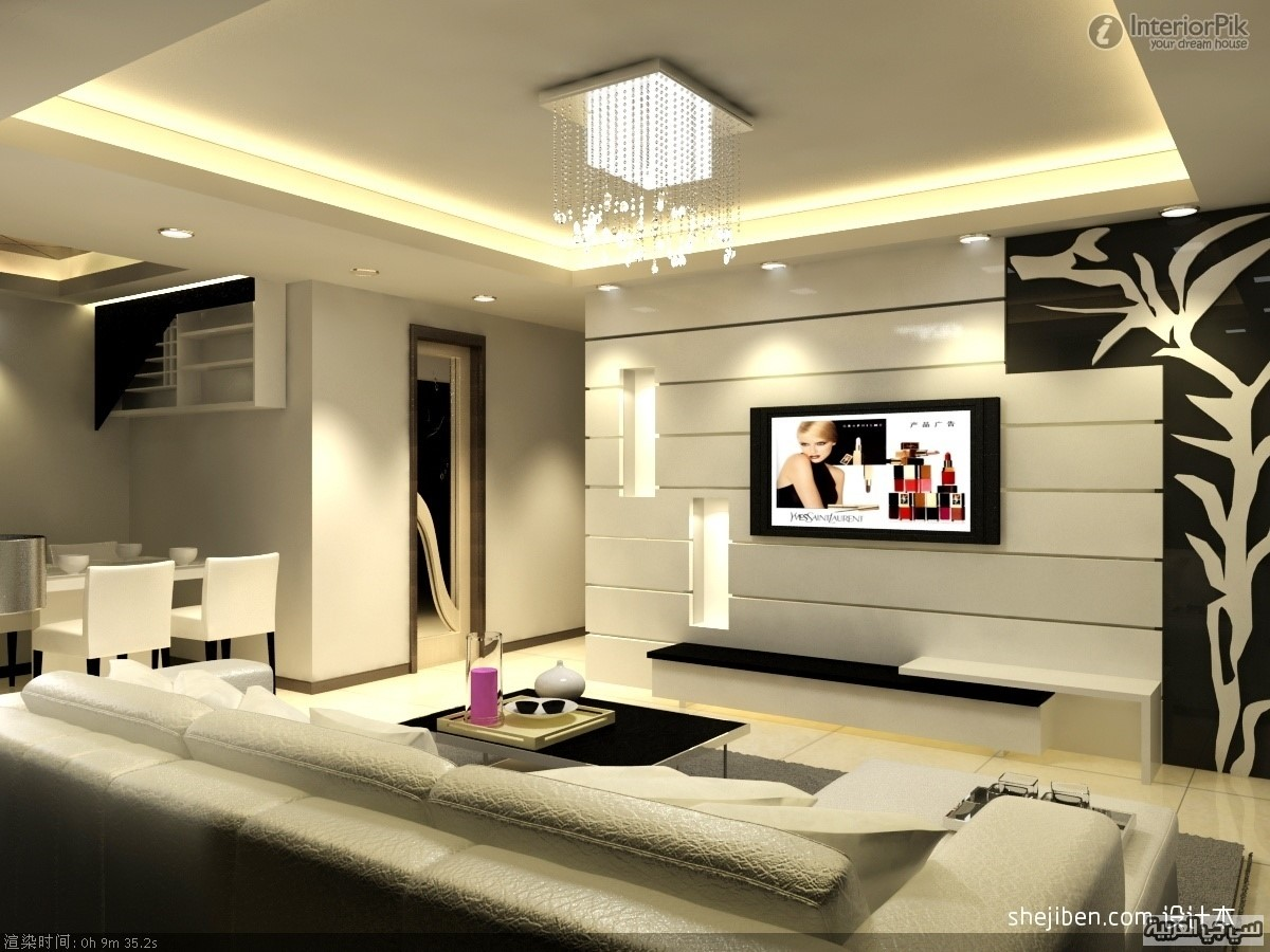 Marvelous Living Room Ideas With Tv On Wall Marvellous Wall Deco